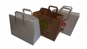 torby papierowe średnie  z nadrukiem